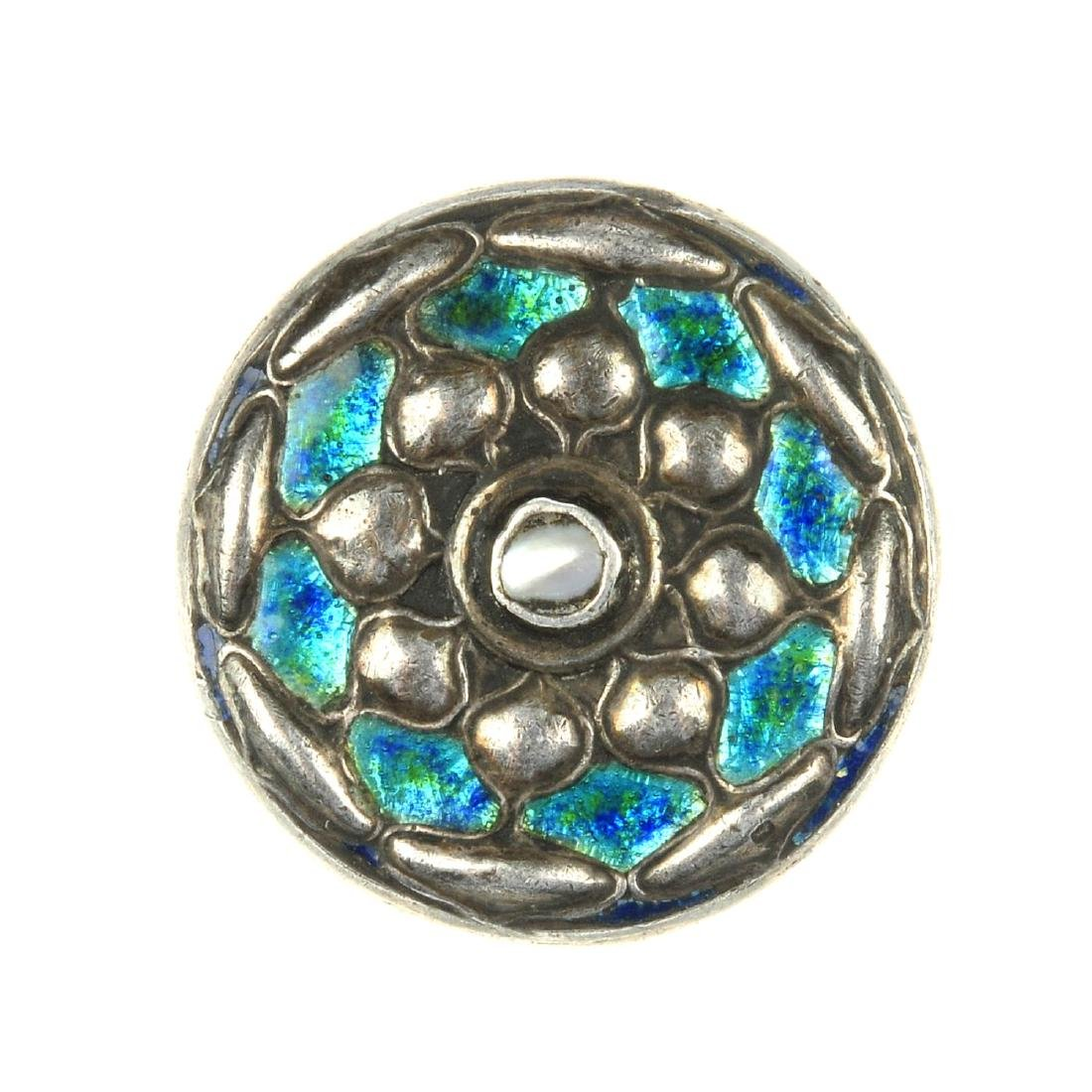 W. H. HASELER - a silver enamel and mother of pearl