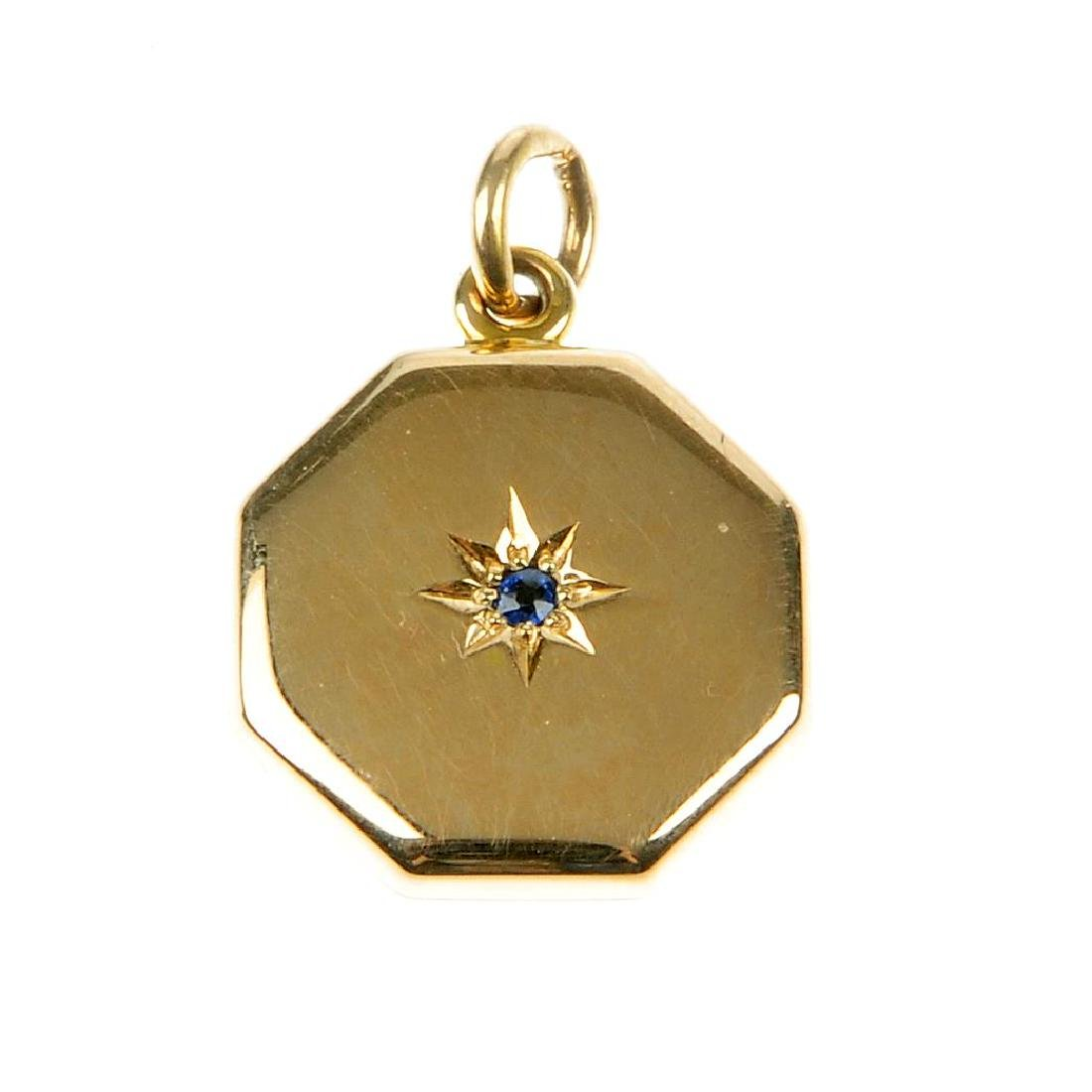 An early 20th century 15ct gold locket set with a