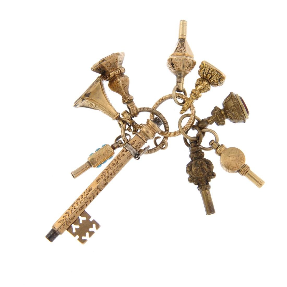 A selection of fobs and watch keys. To include a watch