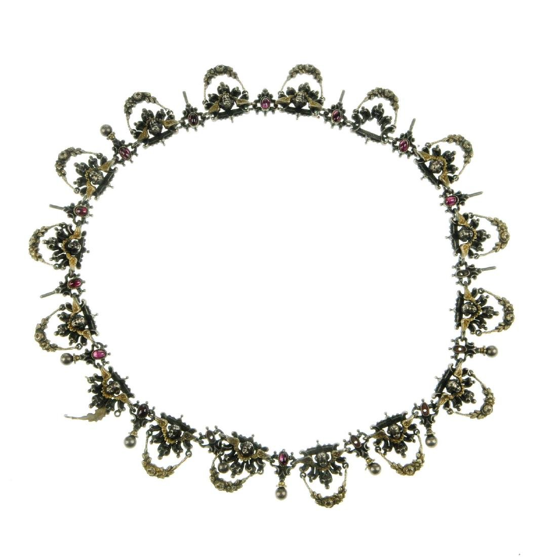 An Austro-Hungarian necklace. Designed as a series of
