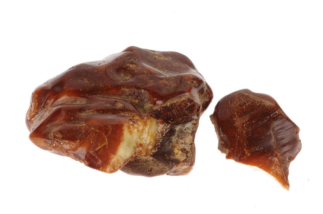 A piece of natural amber. Separated into two pieces - 2