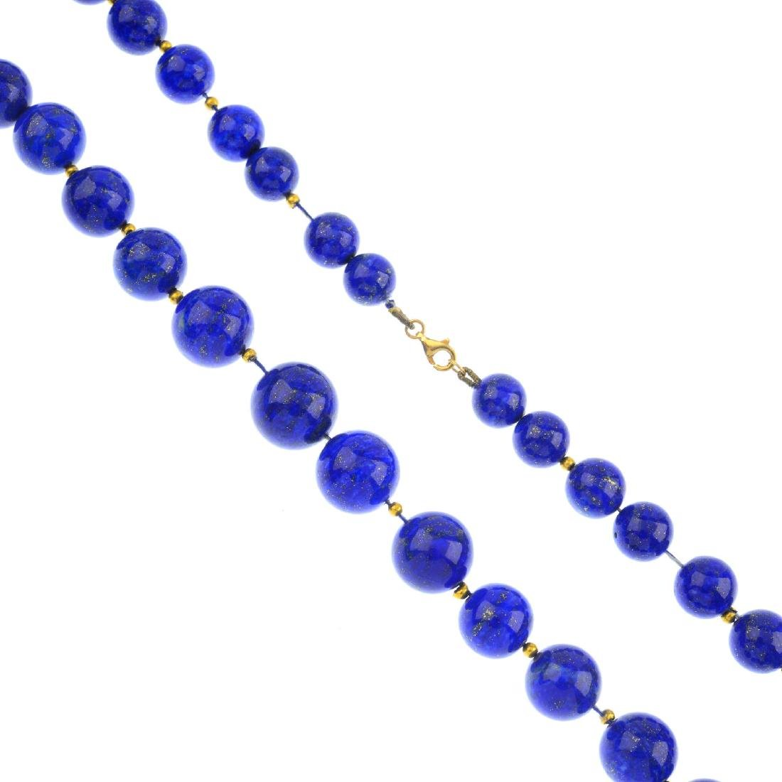 A lapis lazuli single-strand necklace. Comprising