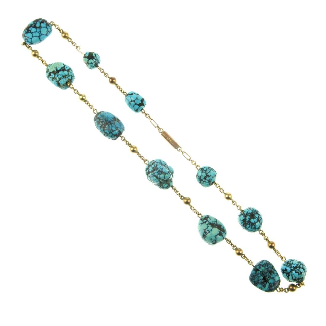 A selection of gem jewellery. To include a turquoise
