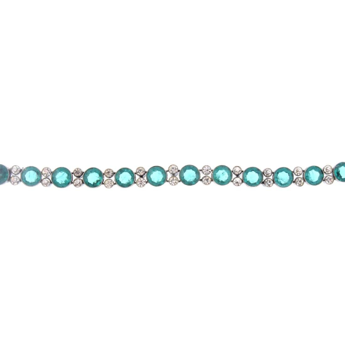 An early 20th century paste bracelet. Designed as