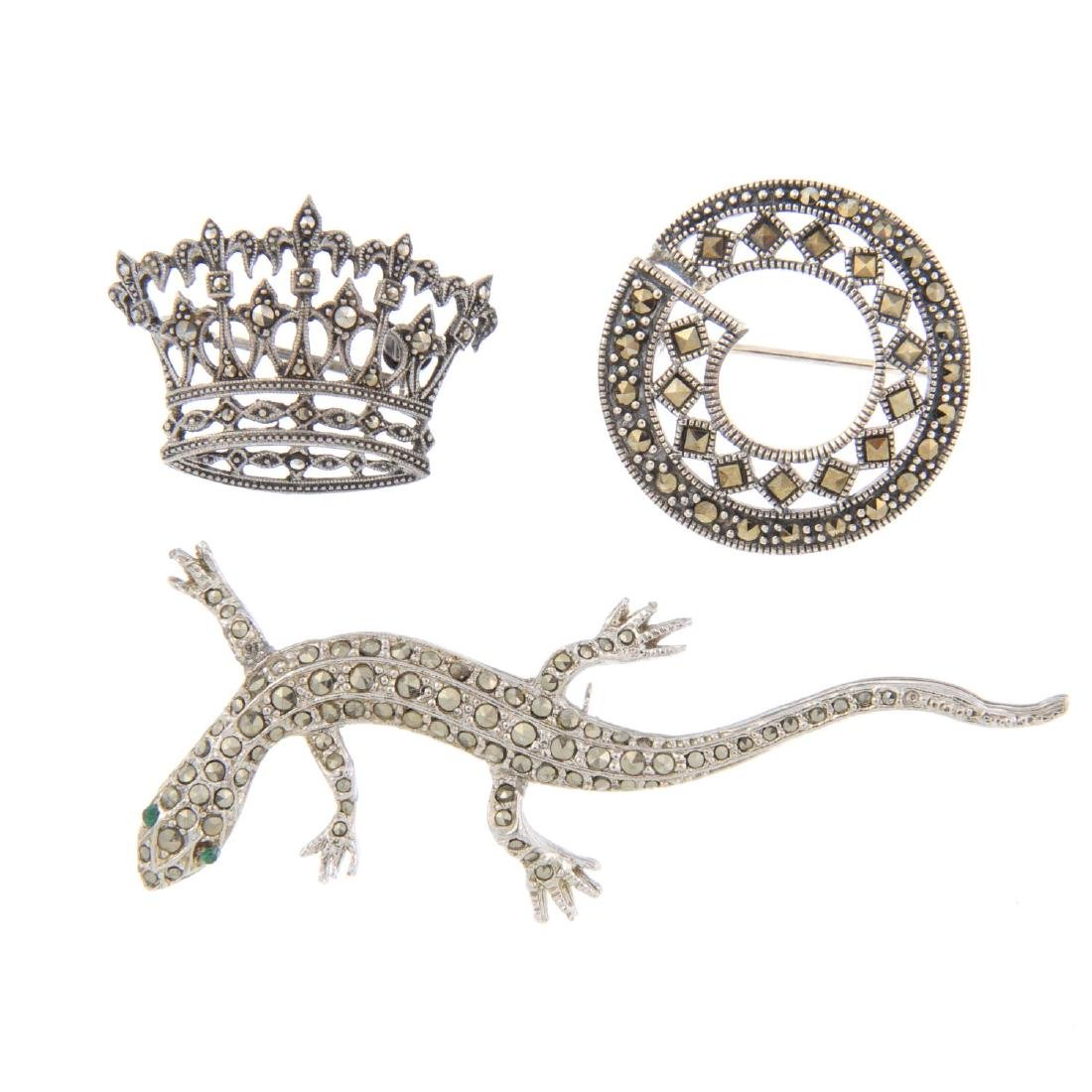 A selection of marcasite jewellery. To include an