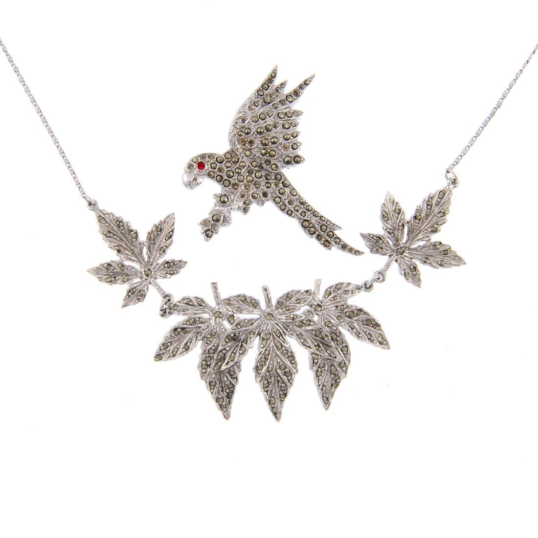 A selection of marcasite jewellery. To include animal,