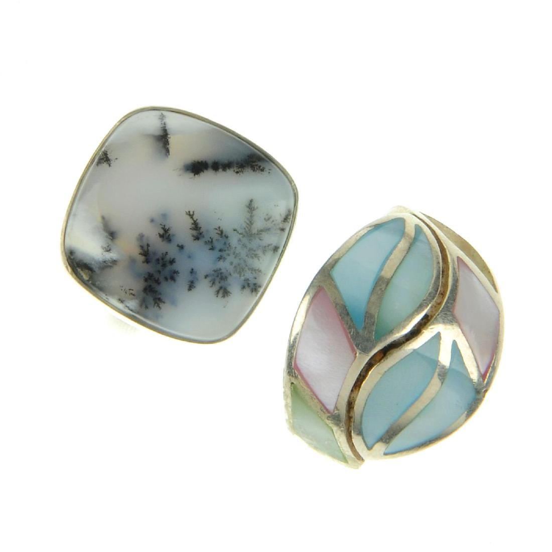 A selection of silver and white metal rings. To include