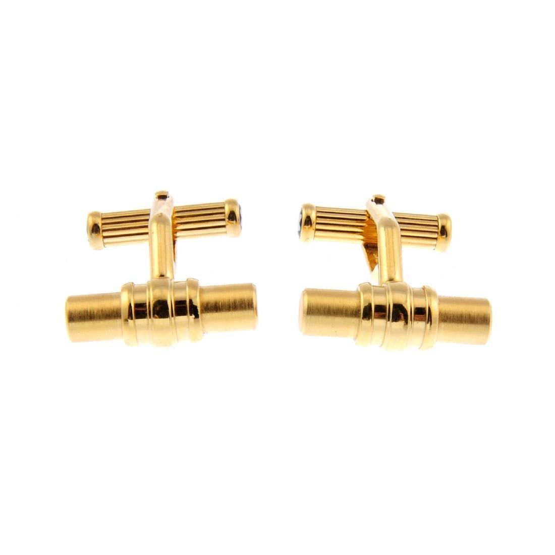 MONT BLANC - a pair of cufflinks. Each designed as