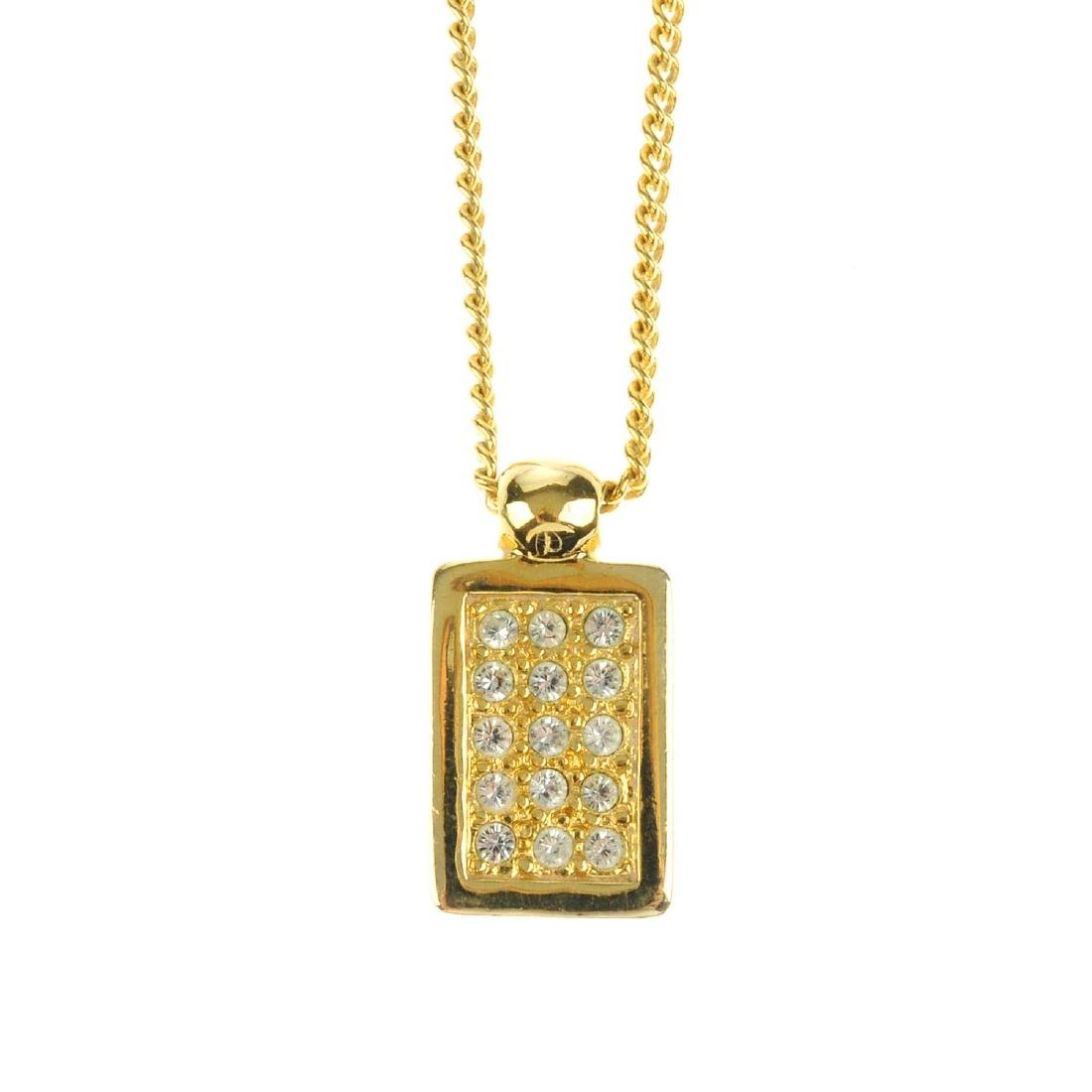 DIOR - a pendant necklace. The curb-link chain