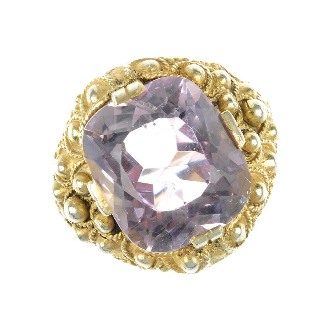 THEODOR FAHRNER - an amethyst ring. Designed as a