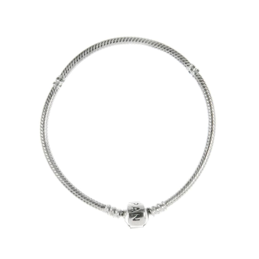 PANDORA - three charm bracelets. The first a