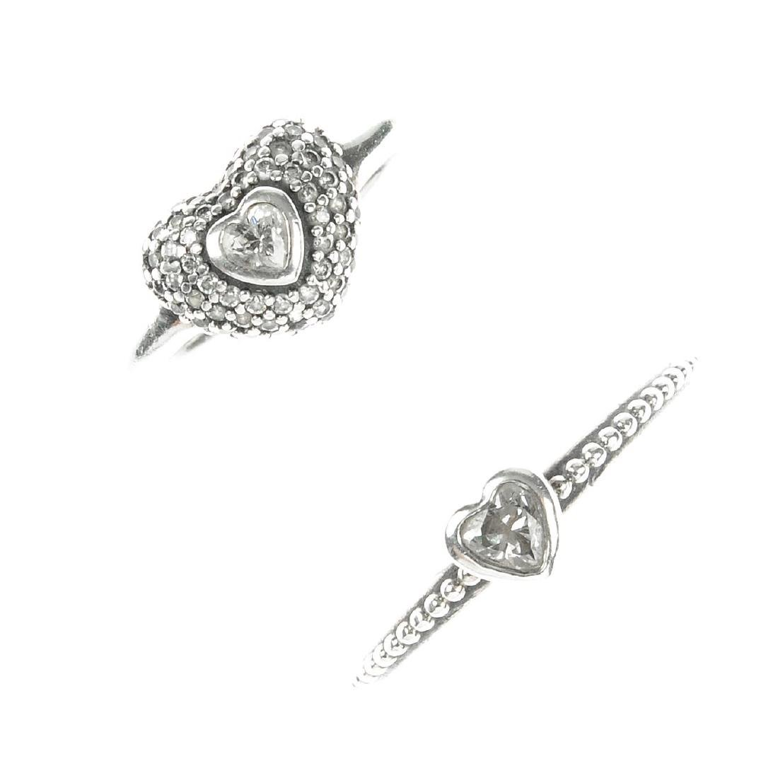 PANDORA - a selection of rings and charms. To include a
