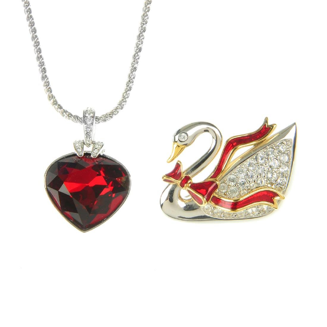 SWAROVSKI - two necklaces, two pairs of earrings, a
