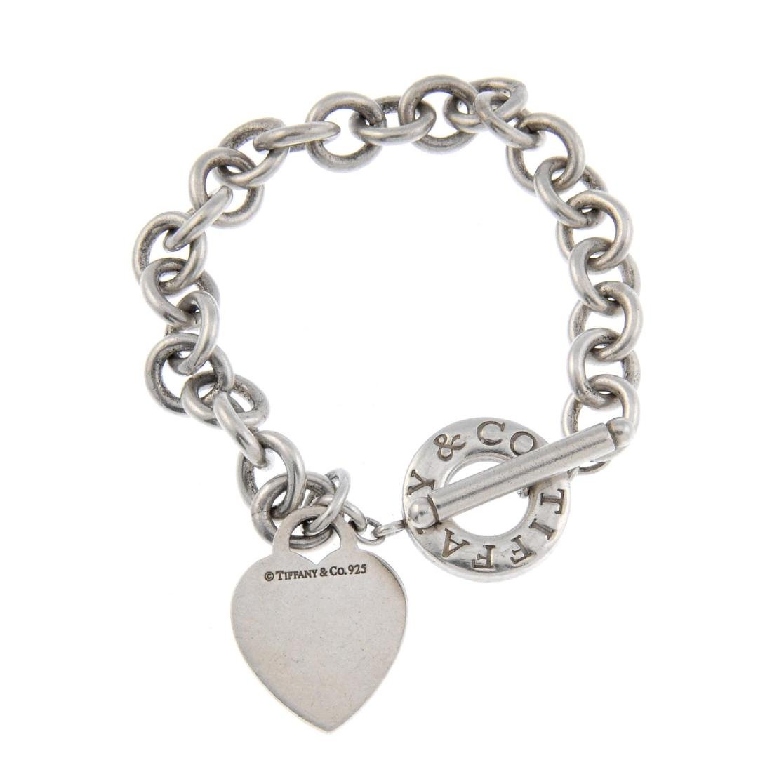 TIFFANY & CO. - a belcher-link necklace and bracelet.