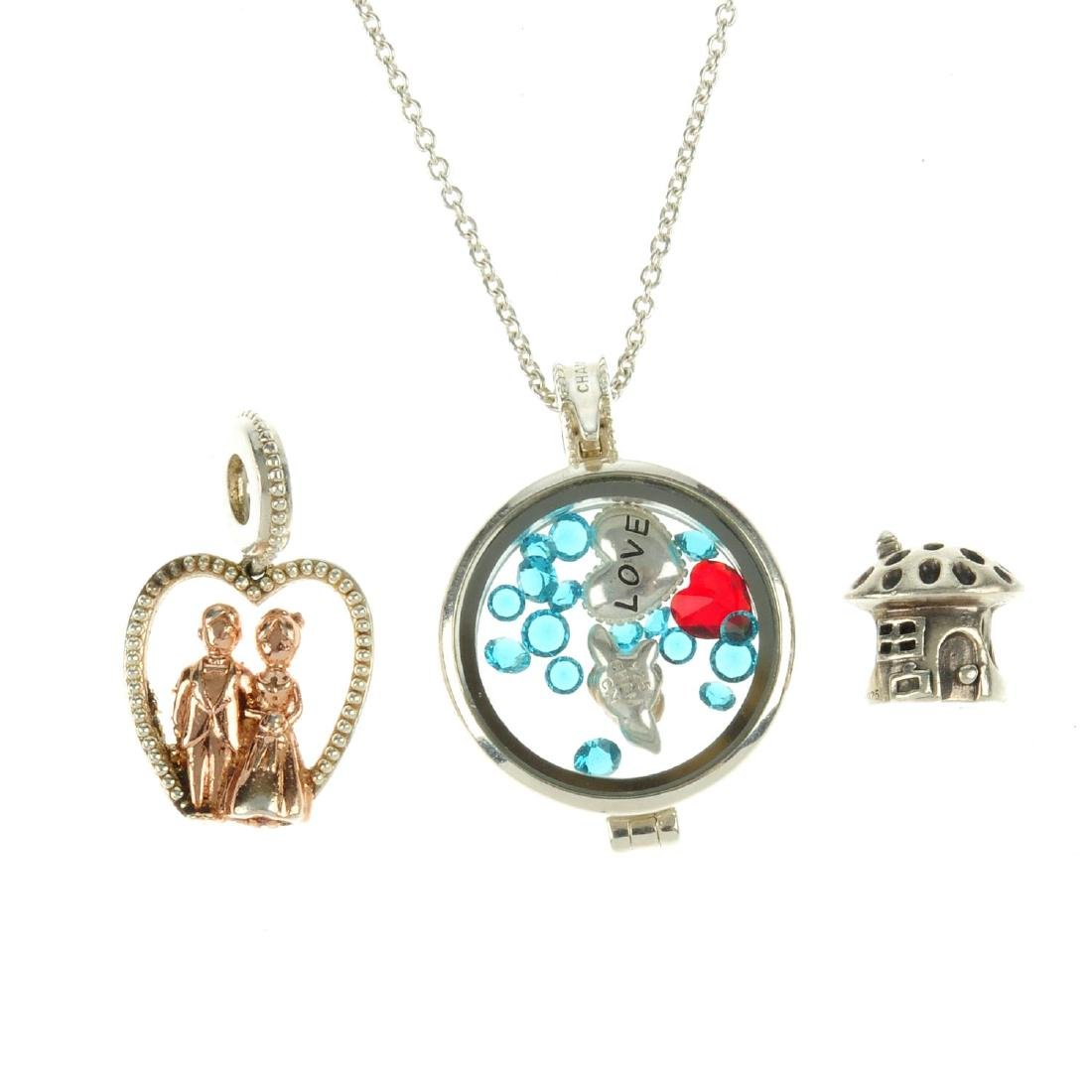 A selection of designer jewellery and charms. To