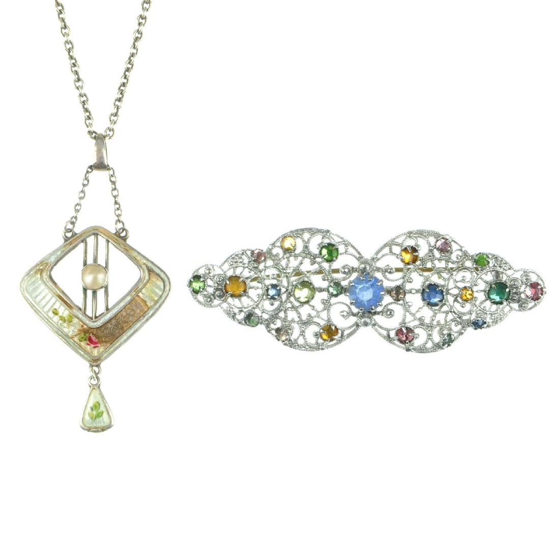 A Charles Horner pendant and a selection of jewellery