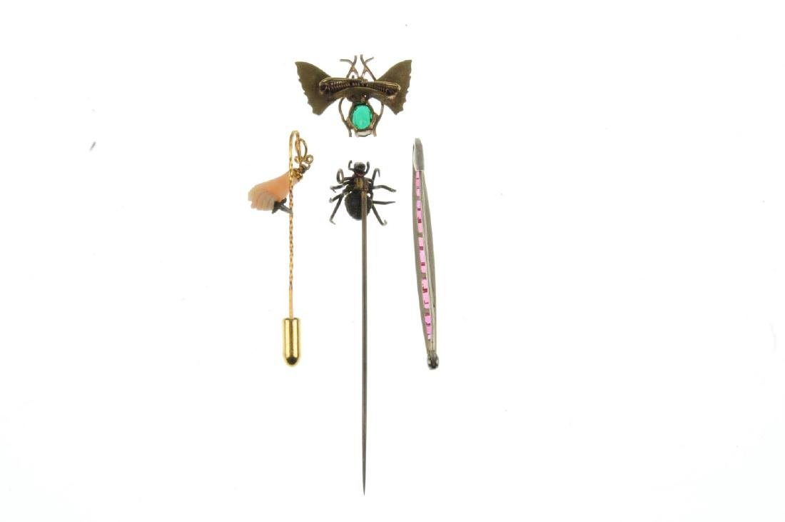 A selection of stickpins and jewellery. To include one - 2