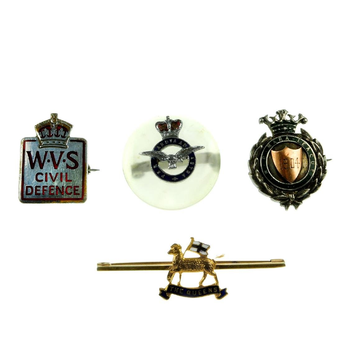 A selection of badges and medallions. To include a bar