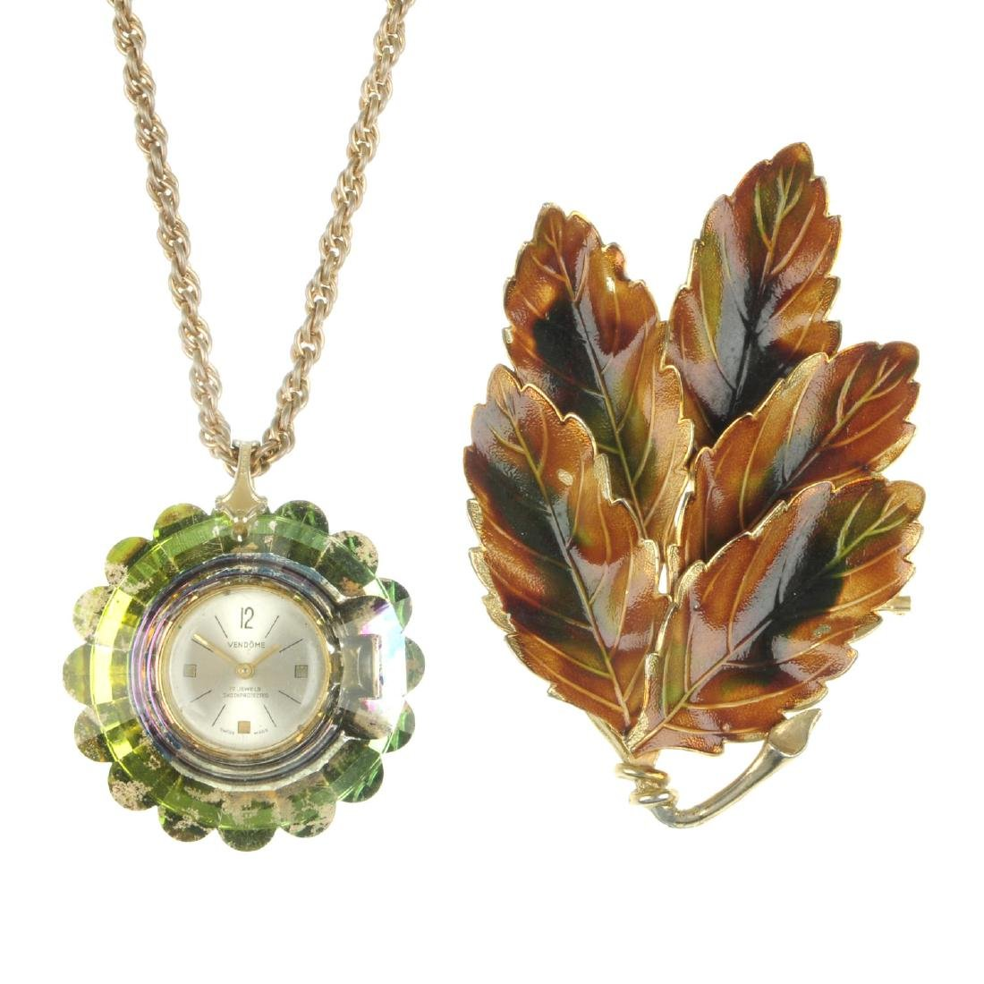 A selection of costume jewellery. To include a Vendome