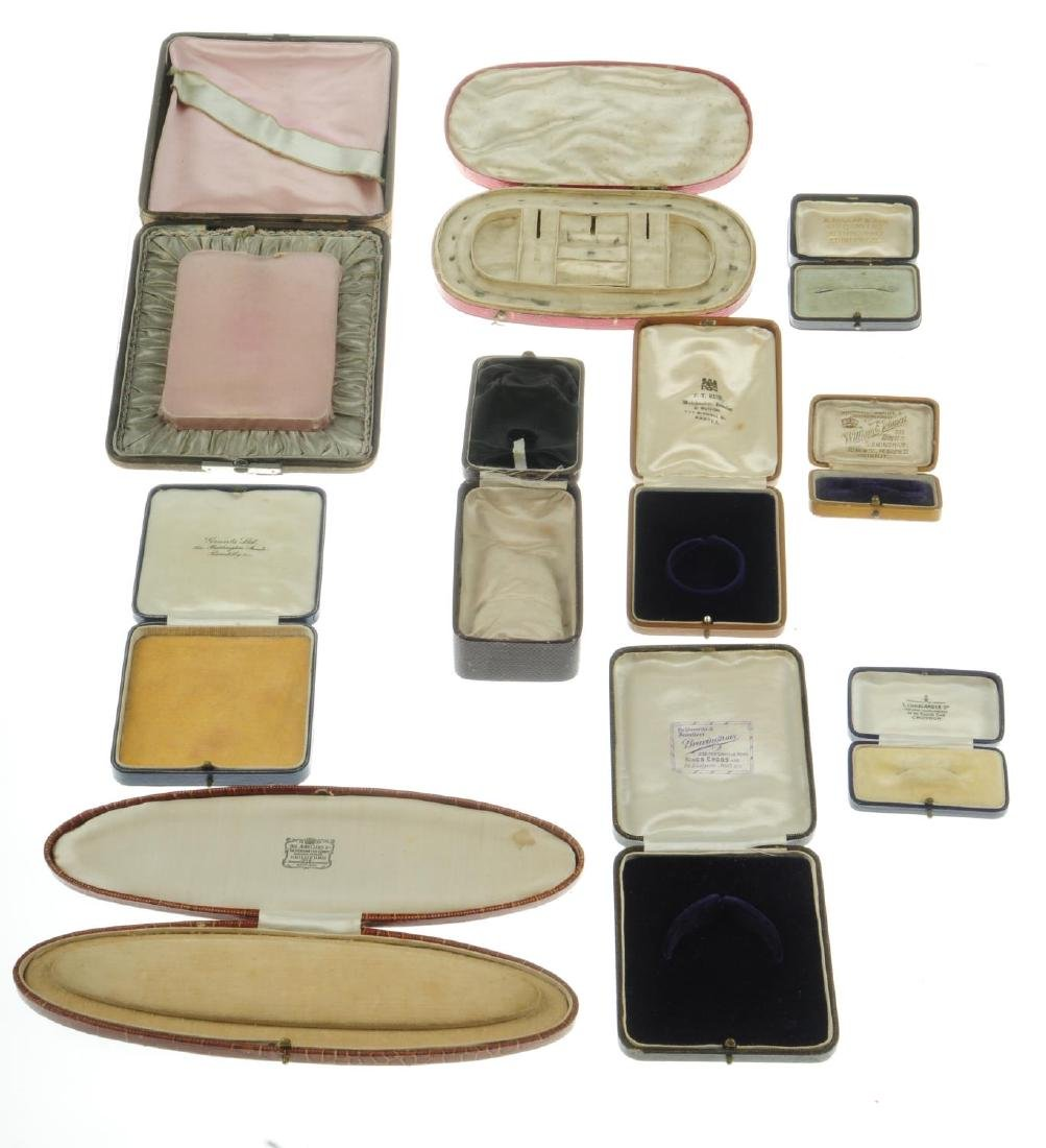 Thirty-one antique jewellery boxes. To include a H. - 4