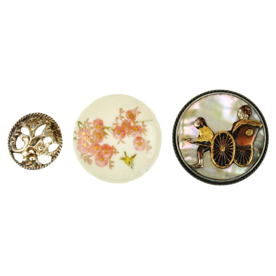 A selection of mainly early 20th century buttons. To