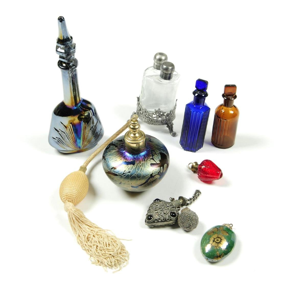 A selection of perfume and scent bottles. To include a