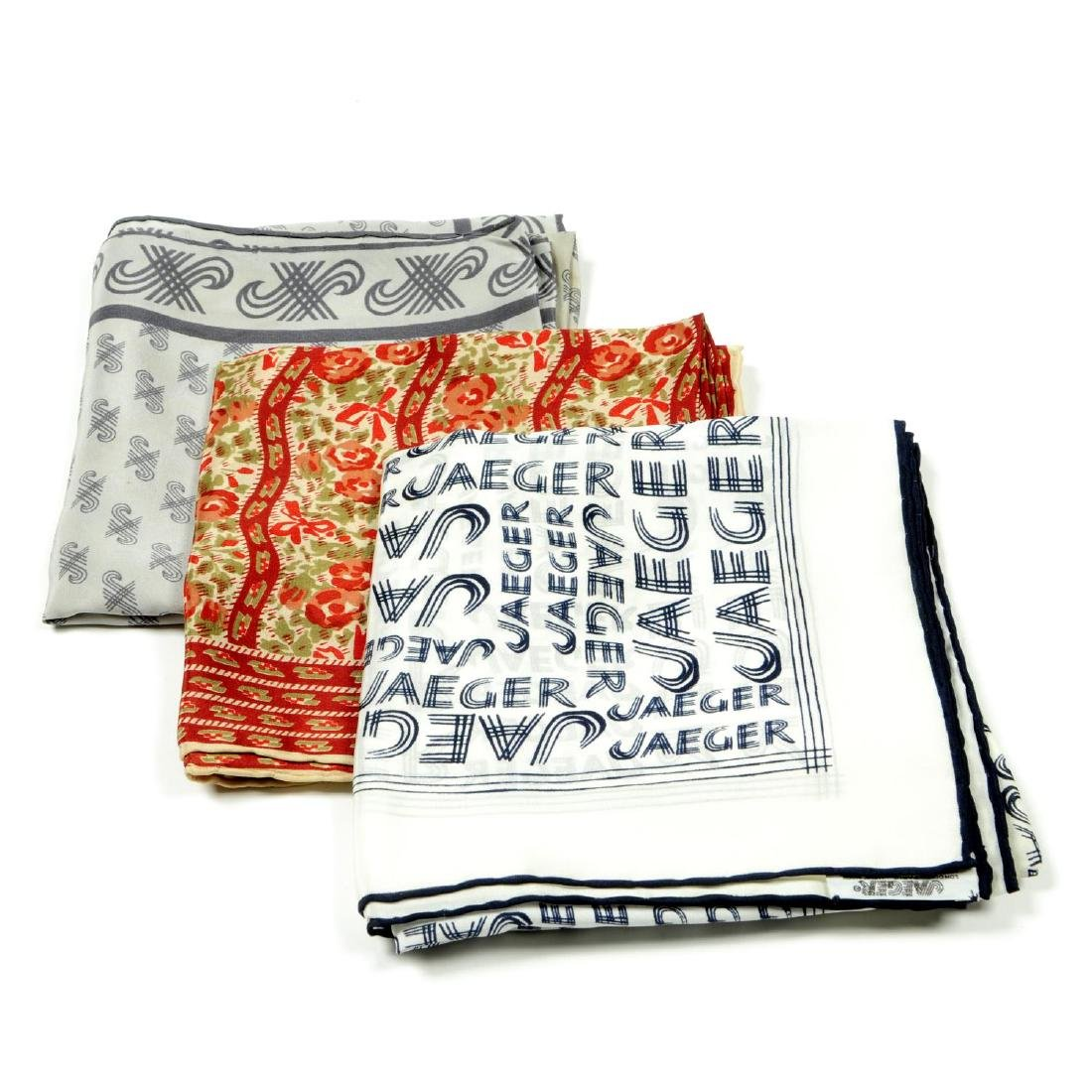 JAEGER - a selection of ten scarves. To include a white