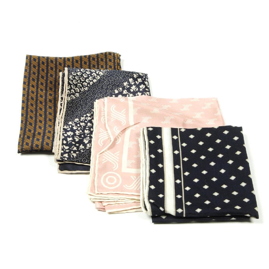 JAEGER - a selection of ten scarves. To include four
