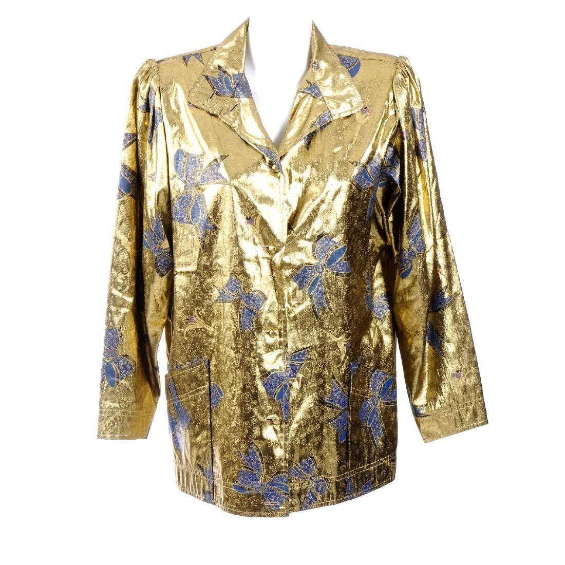 CAROLINE CHARLES - a jacket. The 1980s jacket featuring