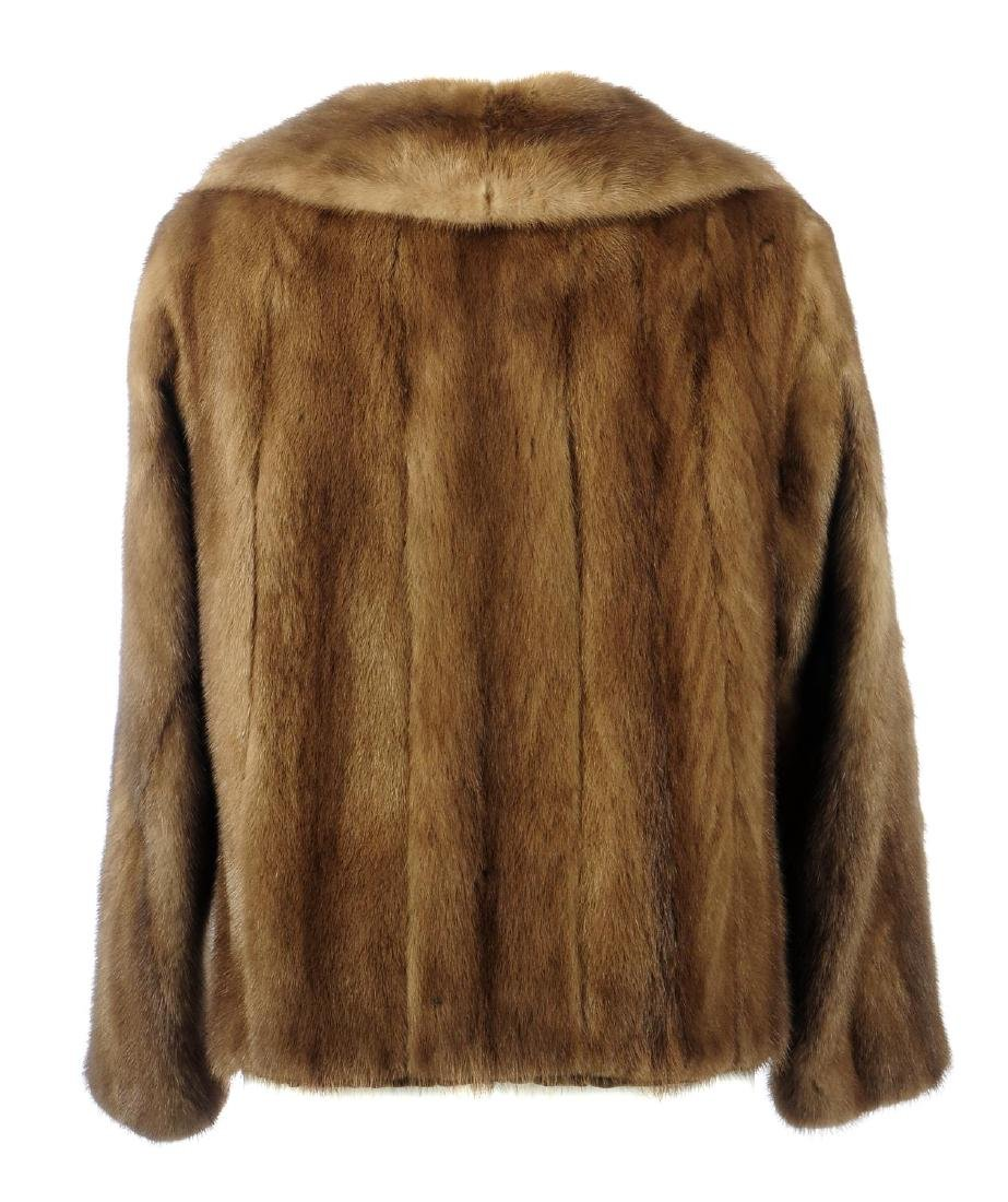A demi buff mink jacket. Featuring a notched lapel - 2