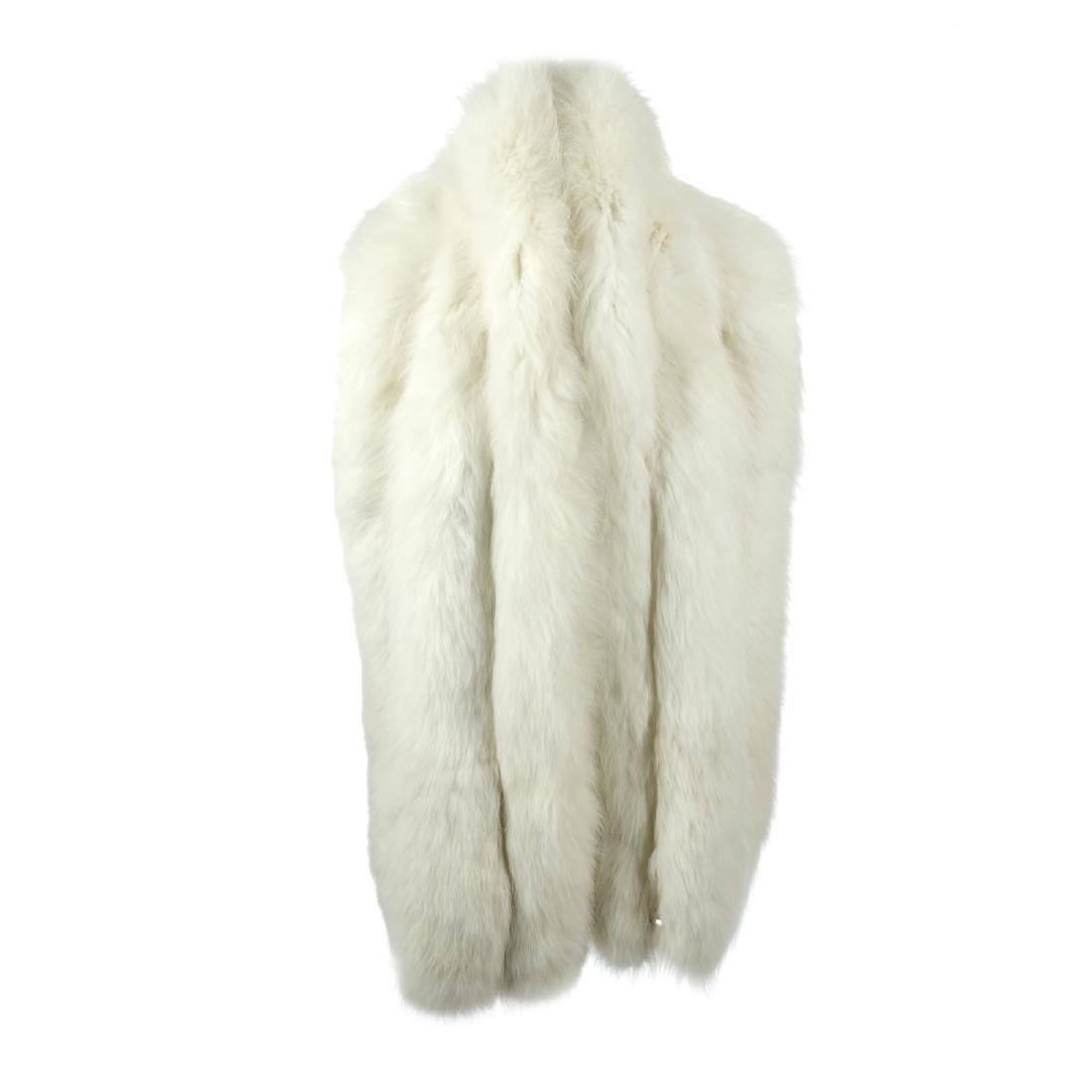 A fox fur stole. Featuring a collarless design with