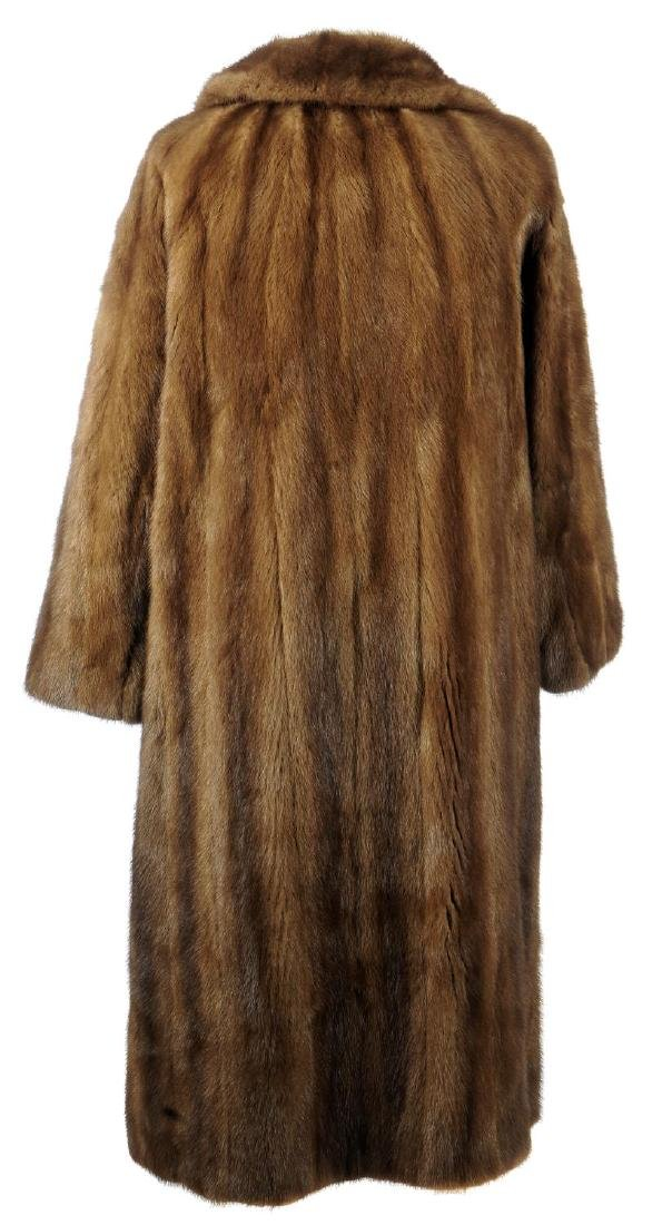 A full-length demi-buff mink coat. Designed with a - 2