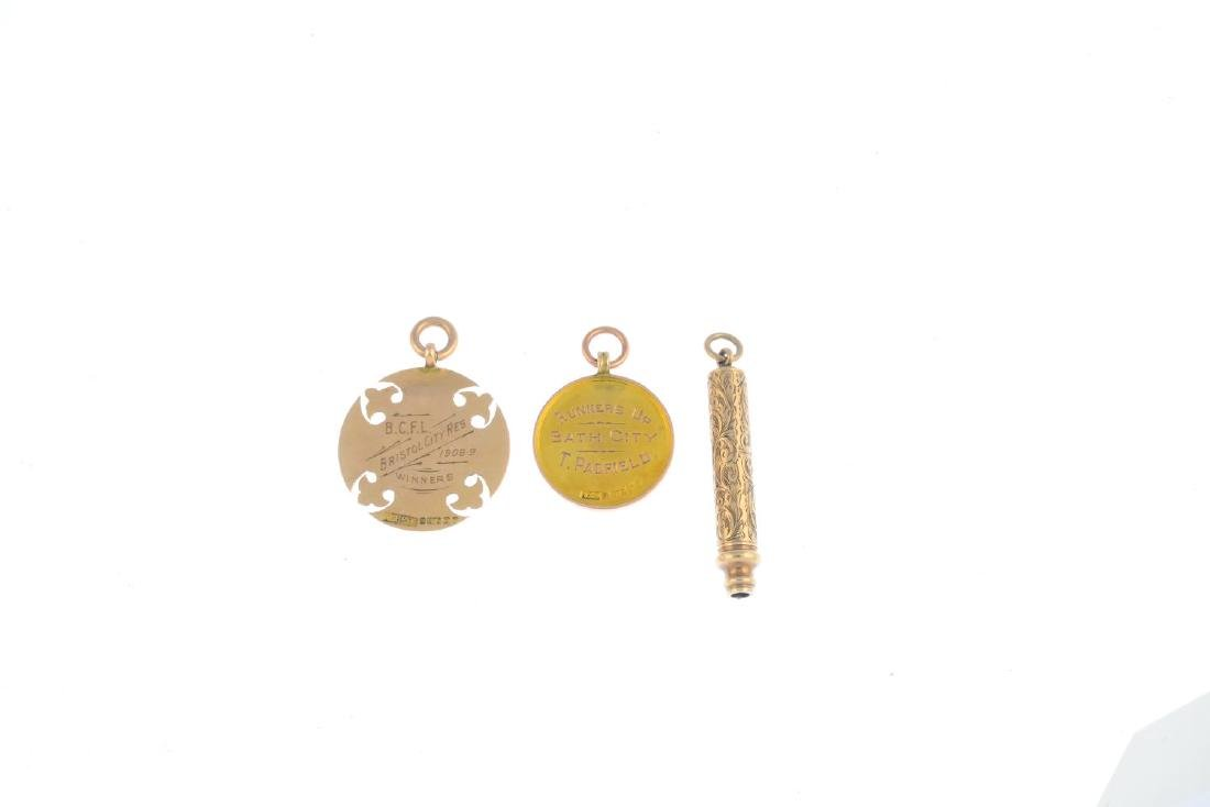 Two early 20th century 9ct gold medals and a - 2