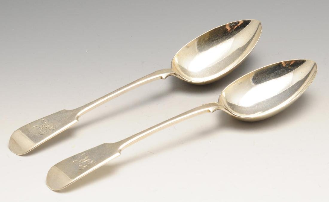 A set of four William IV silver table spoons, each of - 4