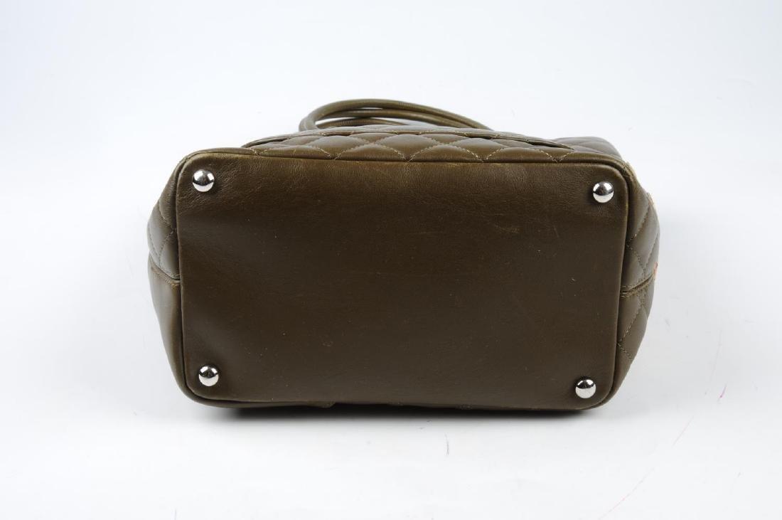 CHANEL - a Ligne Cambon handbag. Featuring a khaki - 3