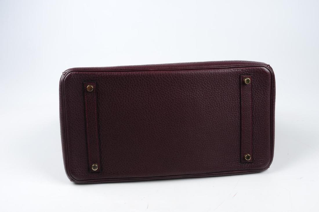 HERMÈS - a plum Clemence Birkin 35 handbag. Designed - 3