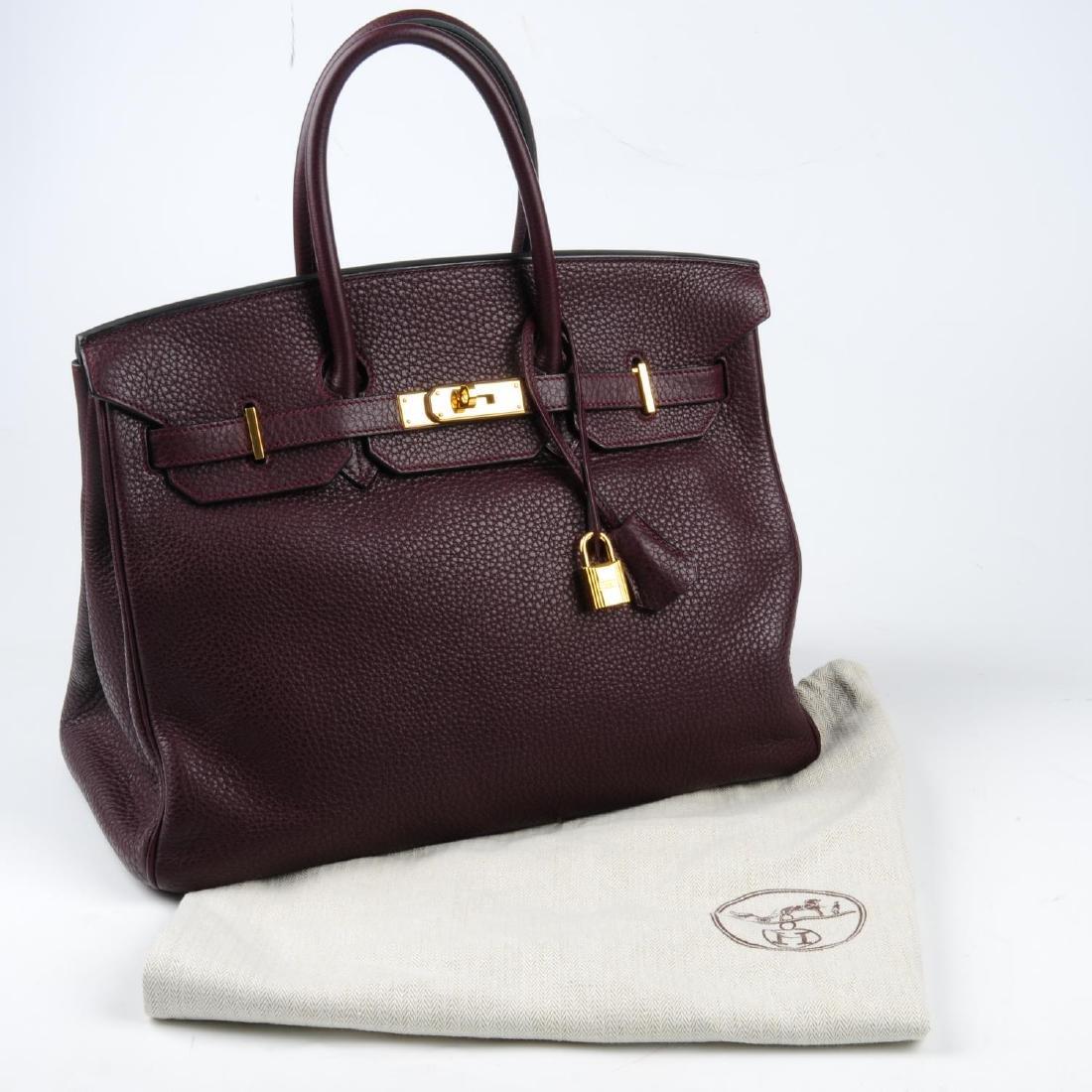 HERMÈS - a plum Clemence Birkin 35 handbag. Designed - 4