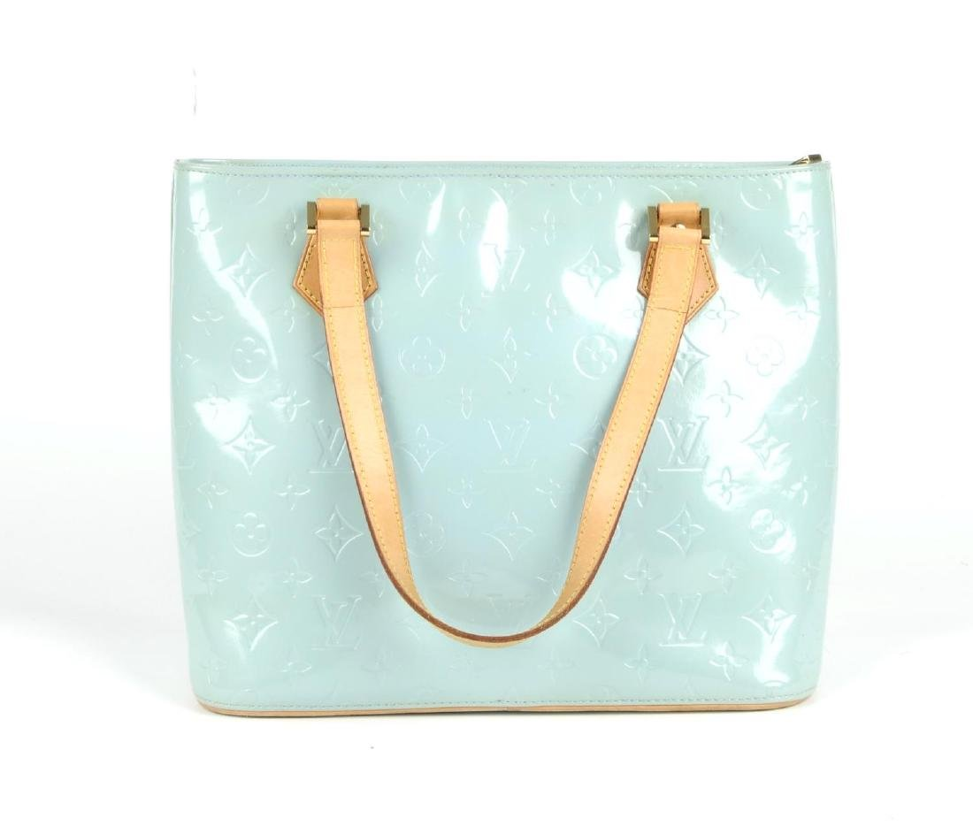 LOUIS VUITTON - a blue Vernis Houston handbag. - 5