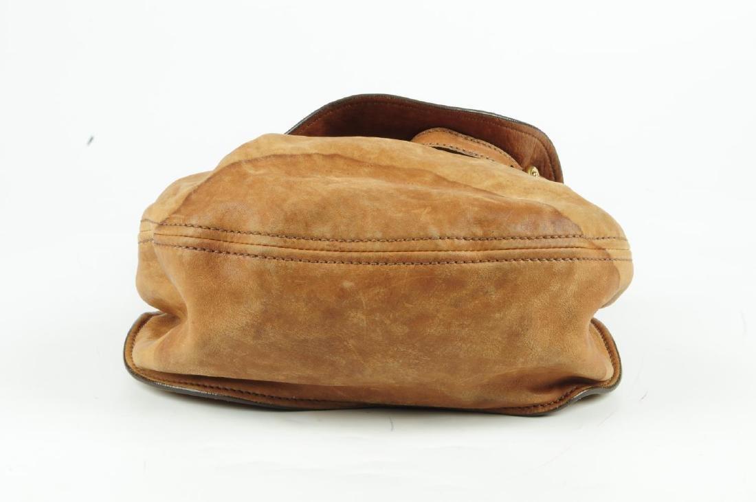MIU MIU - a leather saddle handbag. Designed with a tan - 3