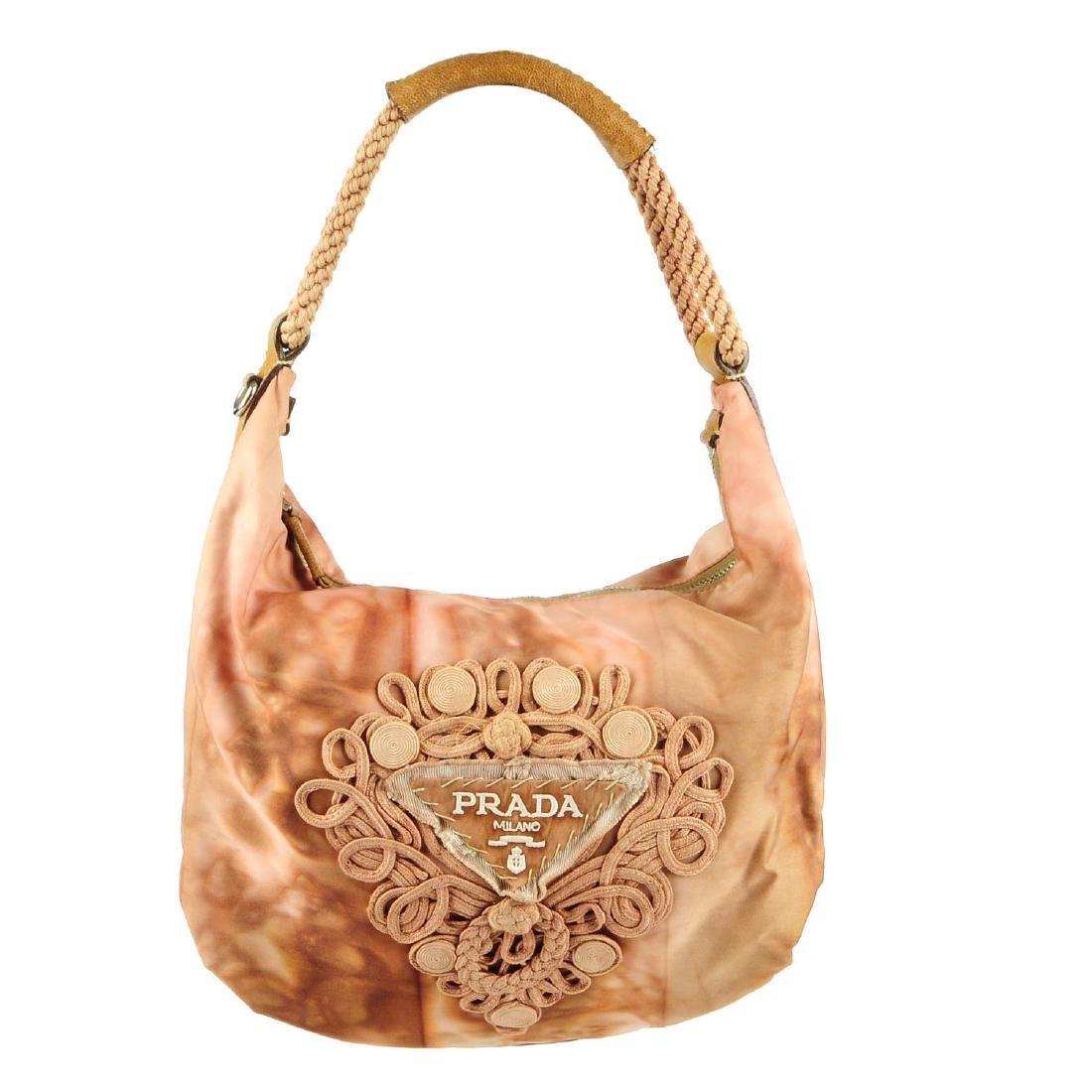 PRADA - a pink Tessuto Tie-Dye hobo handbag. Featuring