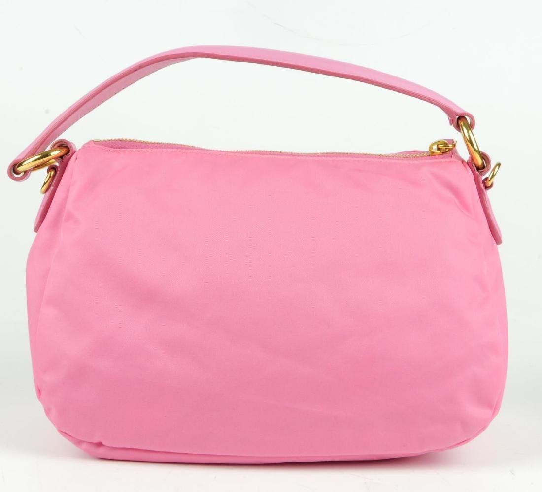 PRADA - a pink Begonia Tessuto Nylon Bow handbag. - 3