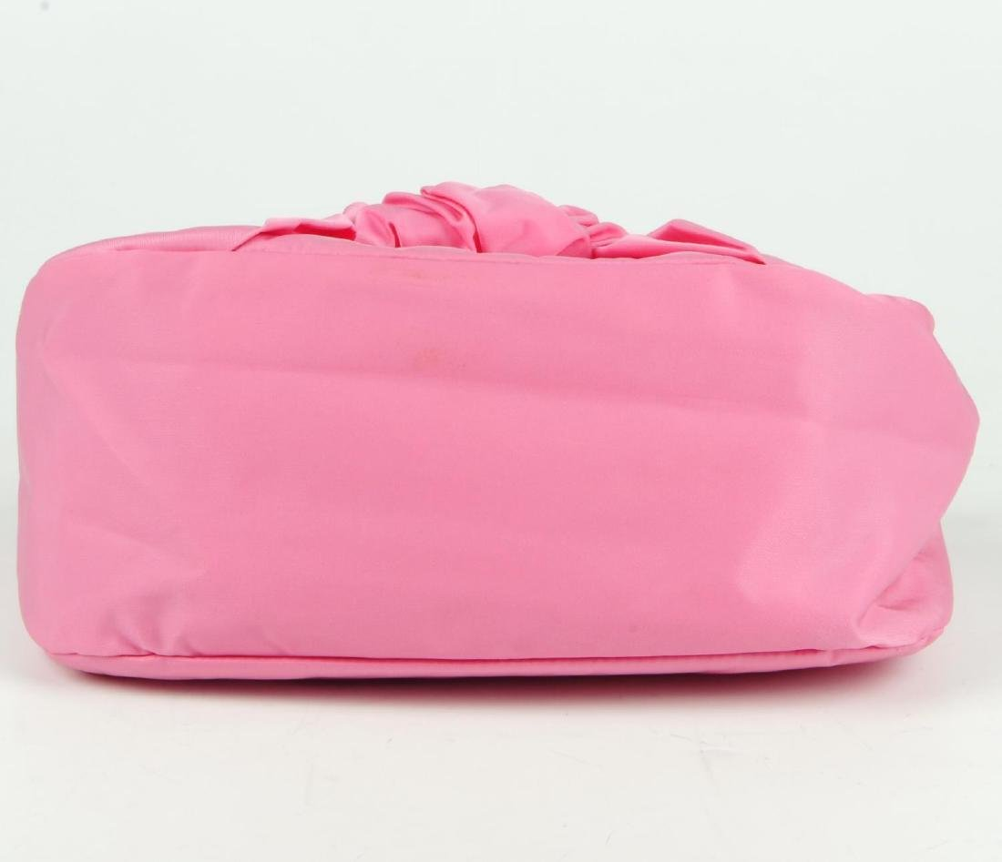 PRADA - a pink Begonia Tessuto Nylon Bow handbag. - 5