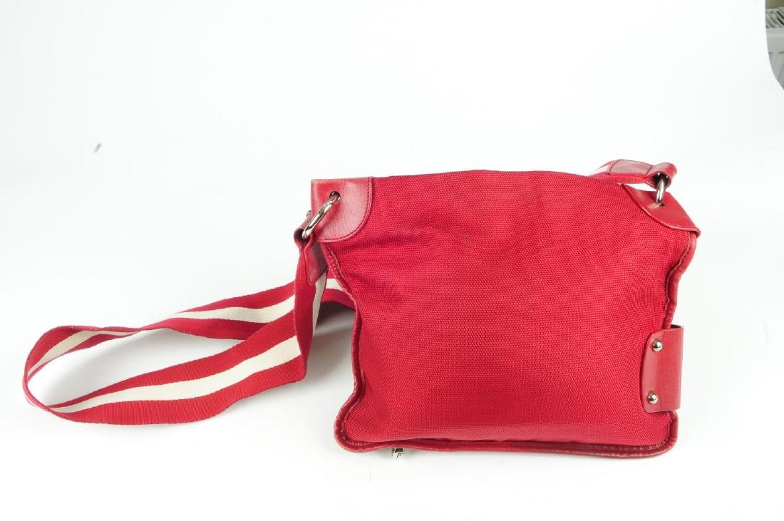 Two designer handbags. To include a red canvas Bally - 2