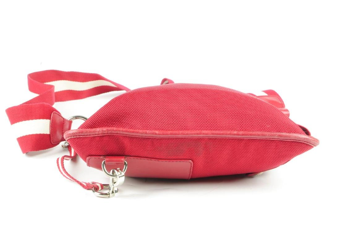 Two designer handbags. To include a red canvas Bally - 4
