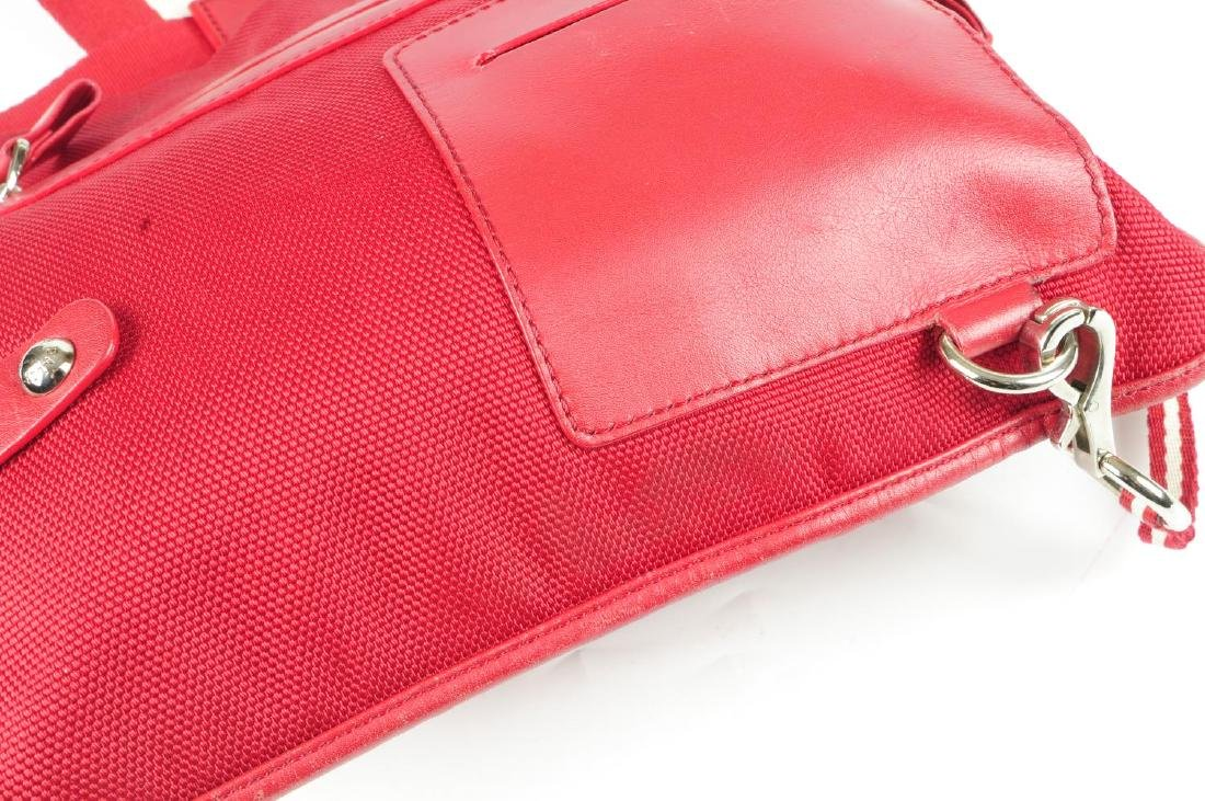 Two designer handbags. To include a red canvas Bally - 7