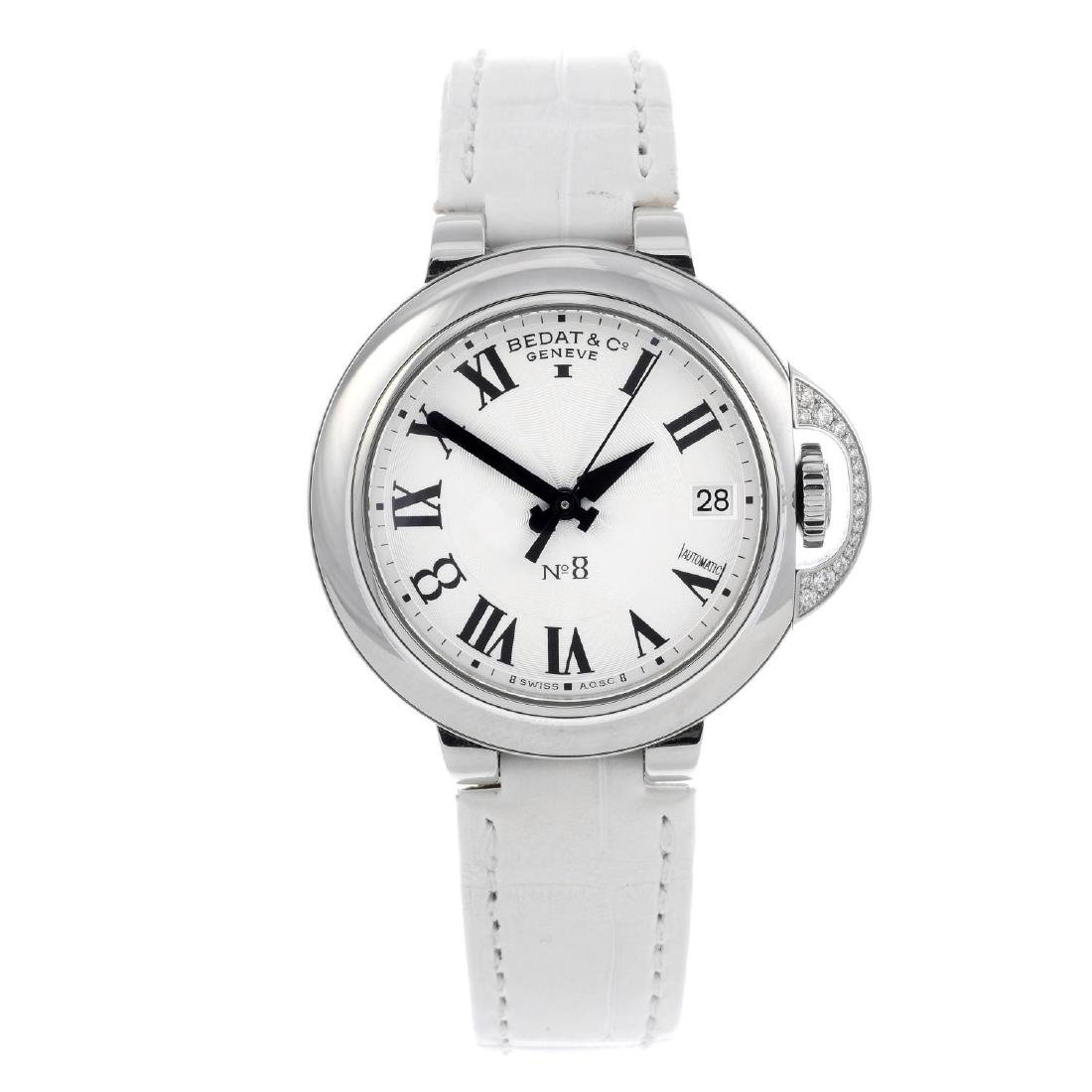 BEDAT & CO. - a mid-size No. 8 wrist watch. Stainless