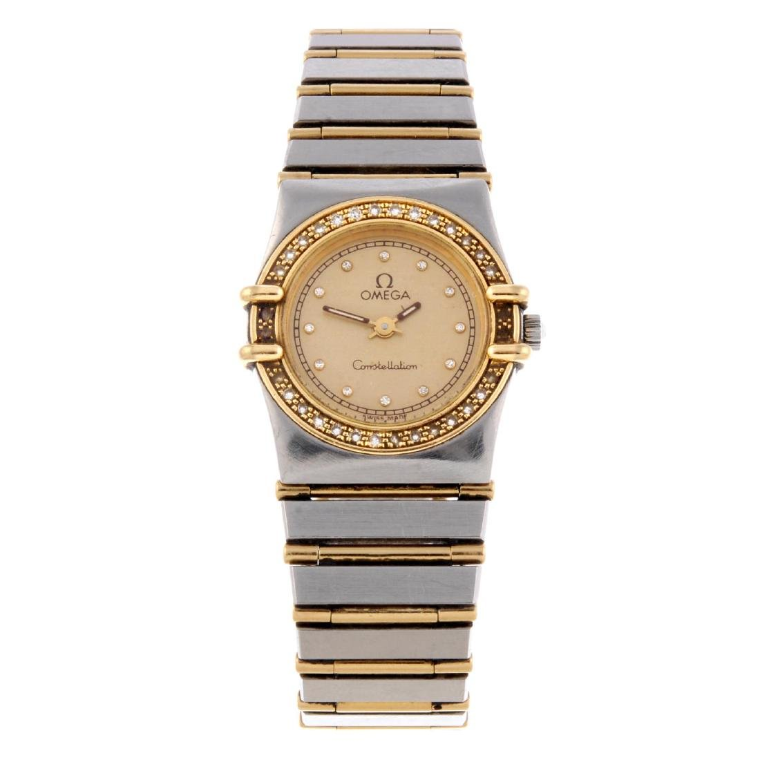 OMEGA - a lady's Constellation bracelet watch.
