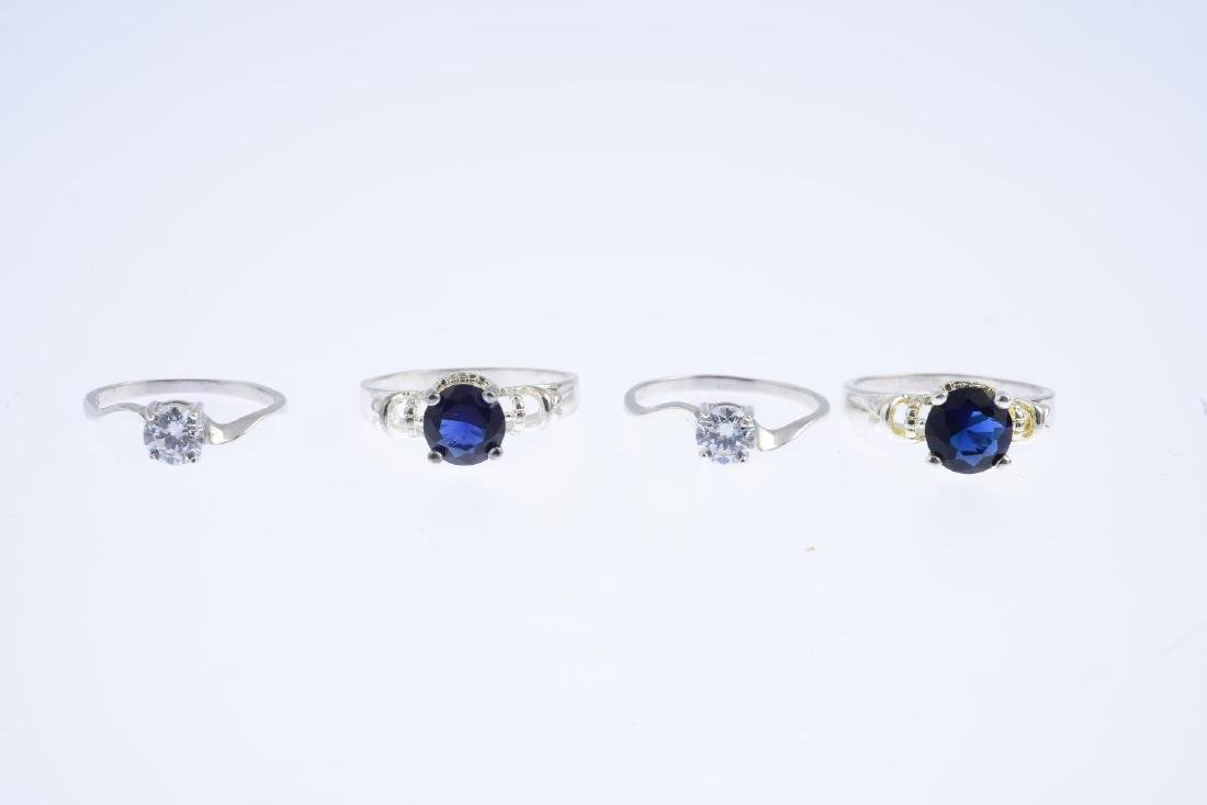 Six gem-set rings. To include a 9ct gold diamond - 2