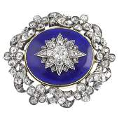 An early Victorian silver and gold, diamond and enamel