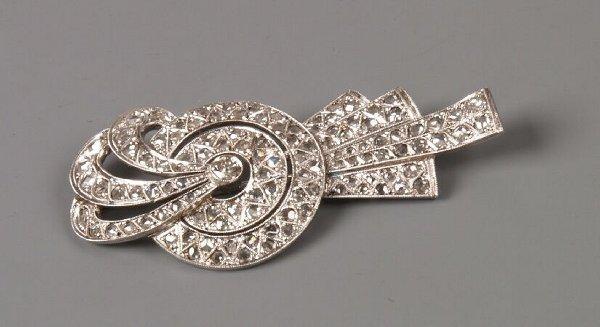 1: Continental white gold Art Deco style diamond set sp
